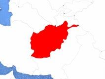 L'Afghanistan sur le globe Image libre de droits