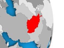 L'Afghanistan sur le globe Photographie stock libre de droits