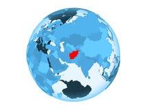 L'Afghanistan sur le globe bleu d'isolement Image libre de droits