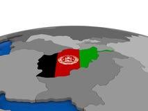 L'Afghanistan sur le globe 3D Photos stock