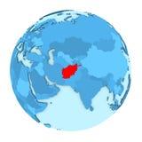 L'Afghanistan sur le globe d'isolement Photo libre de droits