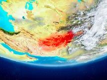 L'Afghanistan sur le globe de l'espace Photos stock