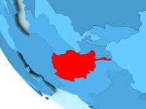 L'Afghanistan sur le globe politique bleu Image libre de droits