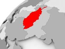 L'Afghanistan sur le globe politique gris Photo libre de droits
