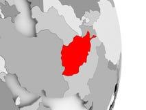 L'Afghanistan sur le globe politique gris Image stock