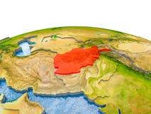 L'Afghanistan sur le modèle de la terre Photo stock
