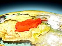 L'Afghanistan sur le modèle de la terre Photos libres de droits
