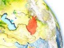 L'Afghanistan sur le modèle de la terre Images stock