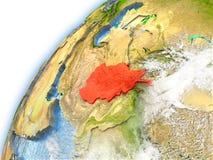 L'Afghanistan sur le modèle de la terre de planète Image stock