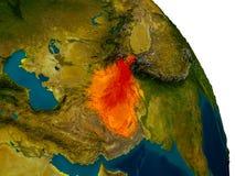 L'Afghanistan sur le modèle de la terre de planète Photos stock