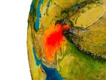 L'Afghanistan sur le modèle de la terre de planète Photo stock