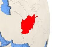 L'Afghanistan sur le modèle du globe politique Photos stock