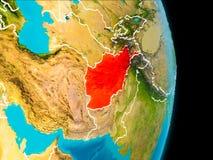 L'Afghanistan sur terre Photographie stock