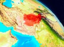 L'Afghanistan sur terre Illustration Stock