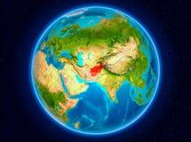 L'Afghanistan sur terre Illustration Libre de Droits