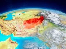 L'Afghanistan sur terre Illustration de Vecteur