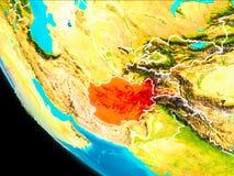 L'Afghanistan sur terre de l'espace Image libre de droits