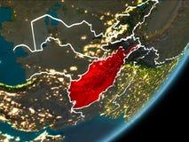 L'Afghanistan sur terre de nuit Illustration Stock