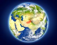 L'Afghanistan sur terre de planète Images libres de droits