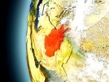 L'Afghanistan sur terre de planète de l'espace Images libres de droits
