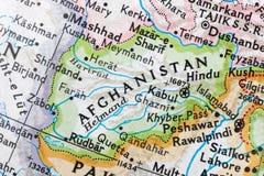 l'Afghanistan sur un globe photographie stock libre de droits
