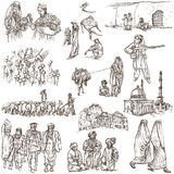 L'Afghanistan : Voyage autour du monde Une illustration tirée par la main Photographie stock libre de droits