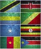 L'Africa centrale inbandiera la parte 1 Fotografie Stock