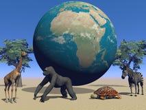 L'Africa ed animali illustrazione di stock