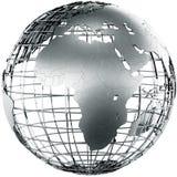 L'Africa in metallo Fotografia Stock