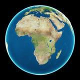 L'Africa sulla terra del pianeta Fotografia Stock Libera da Diritti