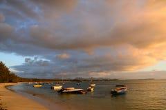 L'Africa, tramonto in Mont Choisy in Mauritius Fotografie Stock Libere da Diritti