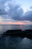 L'Africa, tramonto in Mont Choisy in Mauritius Immagine Stock Libera da Diritti