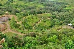 L'Africa, valle dei colori in Chamouny in Mauritius Island Fotografia Stock
