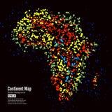 l'africa Vettore del fondo dell'estratto della mappa del continente Formato da Dots Isolated On Black variopinto Fotografia Stock