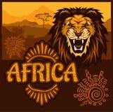 L'Afrique - affiche ethnique Illustration de vecteur illustration libre de droits