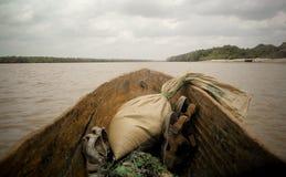 l'Afrique avec un sac à dos Photos libres de droits