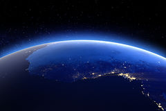 L'Afrique centrale Éléments de cette image meublés par la NASA illustration de vecteur