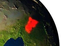 L'Afrique centrale de l'espace Photos libres de droits