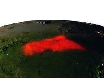 L'Afrique centrale de l'espace la nuit Photo stock