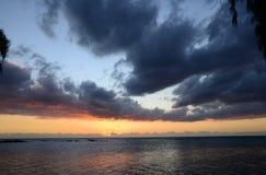 L'Afrique, coucher du soleil en Mont Choisy en Îles Maurice Photos libres de droits
