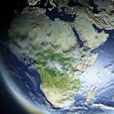 l'Afrique de l'espace illustration libre de droits