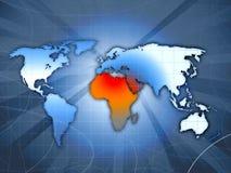 l'Afrique du Nord est en conflit 2011 Image libre de droits