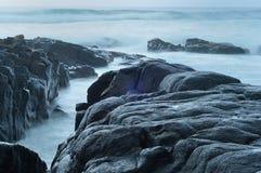 L'Afrique du Sud rentrée par paysage marin Image libre de droits