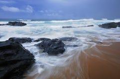 L'Afrique du Sud rentrée par paysage marin Photos libres de droits