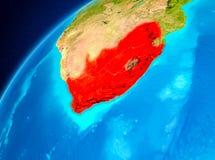 L'Afrique du Sud sur terre de l'espace Photo stock