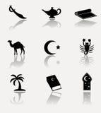 L'Afrique, ensemble d'icône de l'Islam Photographie stock libre de droits