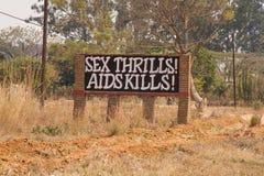 l'Afrique facilite l'avertissement de signe Photo libre de droits