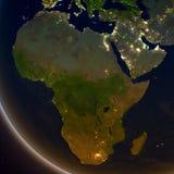 L'Afrique la nuit illustration de vecteur