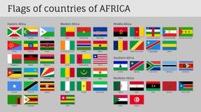 L'Afrique marque le grand ensemble Photos libres de droits