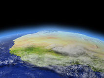 L'Afrique occidentale de l'espace illustration stock